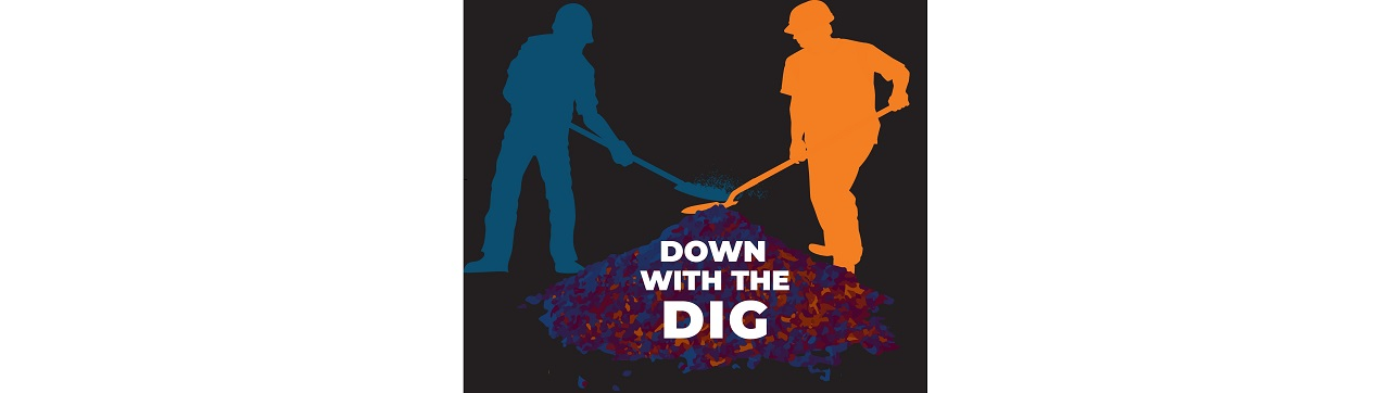 """Down With The Dig"" logo"